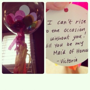 day 31: Victoria asked me to be her maid of honor