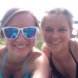 soaking up the sun with Lindsay