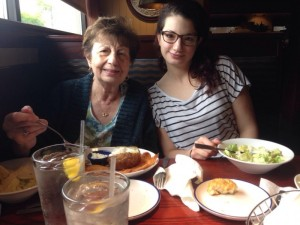 day 35: lunch at Red Lobster with Grandma and Kellie